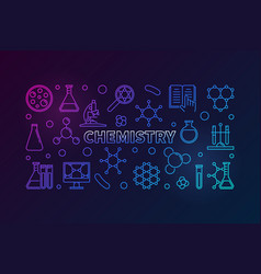 chemistry colored education outline vector image