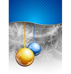 christmas background with two balls vector image