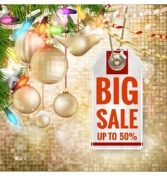 Christmas sale design template EPS 10 vector image