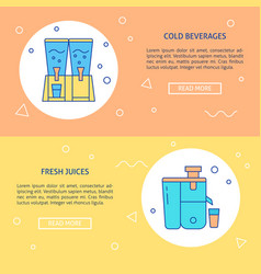 cold beverage appliances theme banner templates in vector image