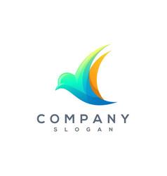 colorful bird logo vector image