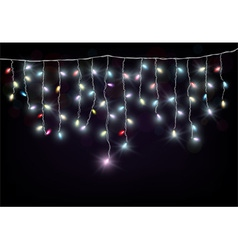 Colorful Christmas light vector