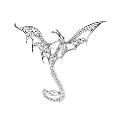 Decorative dragon vector