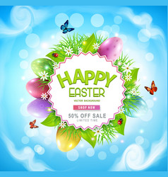 easter sale banner advertising vector image