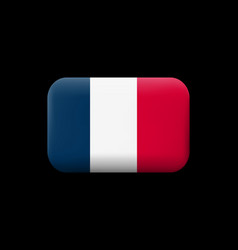 flag of france matted icon and button vector image