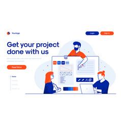 Flat modern design teamwork vector