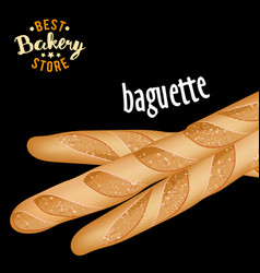 french baguettes baked bread product vector image
