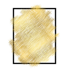 gold metall texture black frame golden color vector image