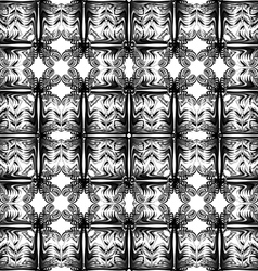 Gray and black pattern seamless on white backgroun vector image