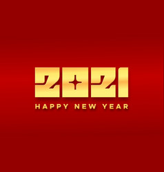 happy chinese new year 2021 typography card vector image