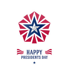 happy presidents day greeting card or poster with vector image