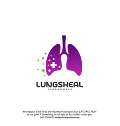 health lungs logo designs lungs with plus symbol vector image