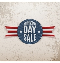 Independence Day Sale circle Emblem vector image