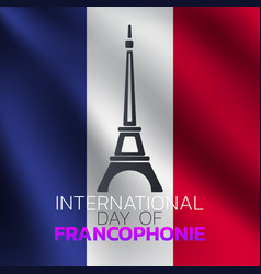 international day francophonie logo icon design vector image