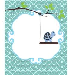 Invitation card turtle vector