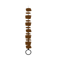 Isolated meat skewer vector