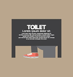 Man In A Toilet Room vector image