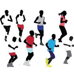 Marathon collection vector