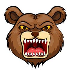 Mascot head an bear vector