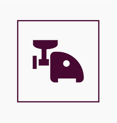 meat grinder icon simple vector image