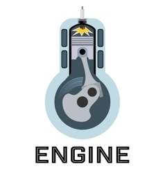 Moto engine symbol vector