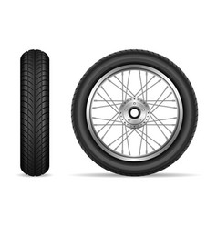 motorcycle wheels set vector image