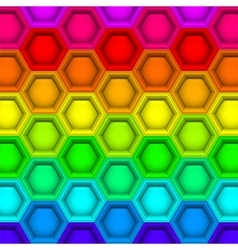 Multicilored hexagon geometric pattern vector image