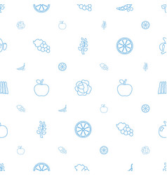 Organic icons pattern seamless white background vector
