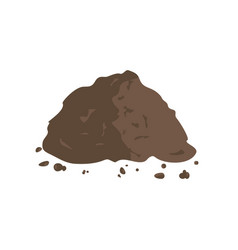pile of ground or compost vector image