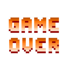 pixel retro computer game over text design vector image