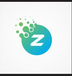 pixel symbol letter z design minimalist vector image