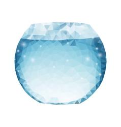 Polygonal aquarium vector