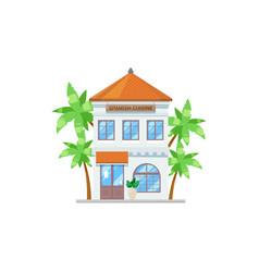 restaurant spanish cuisine isolate facade building vector image