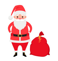 santa claus and gifts bag vector image
