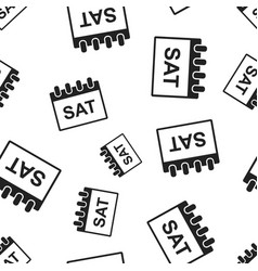 Saturday calendar page seamless pattern vector