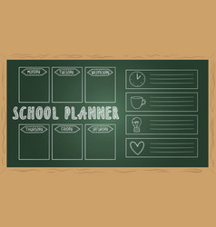 school planner on board doodle to do list chalk vector image