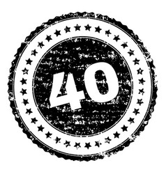 scratched textured 40 stamp seal vector image