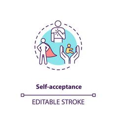 Self acceptance concept icon vector