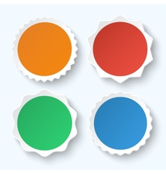 Set of blank stickers Promotional labels vector image