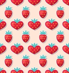 Simple Seamless Wallpaper with Hearts and vector image