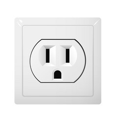 Single electrical socket type b receptacle from vector