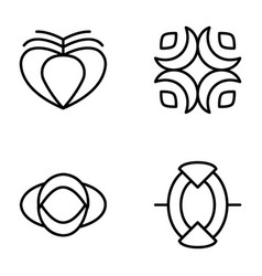 Symbols and signs icons vector