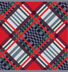 tartan seamless diagonal texture vector image
