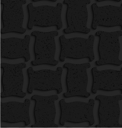 Textured black plastic solid spool shape vector