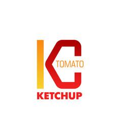 tomato ketchup sign vector image