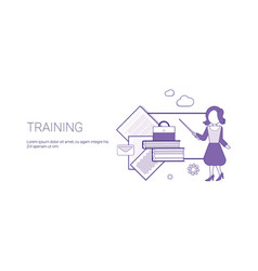 training education business concept template web vector image