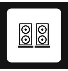 Two audio speakers icon simple style vector image vector image