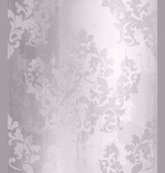 Vintage baroque pattern grunge background vector