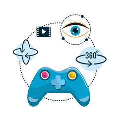 Virtual reality futuristic entertainment game vector