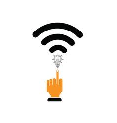 wifi to send idea vector image